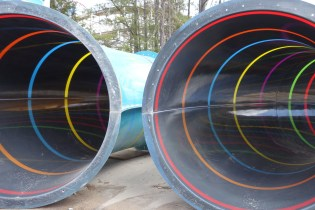 A look inside Thunder Falls' gorgeous striped tubes