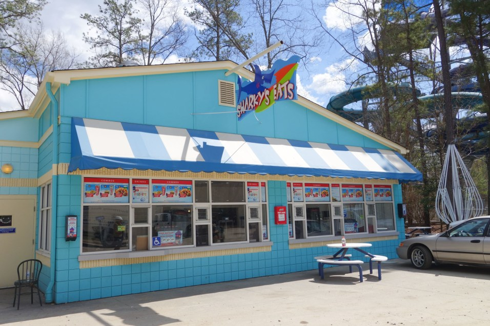 A look at the current status of Sharky's. Will be interesting to see how the grab-and-go conversion turns out
