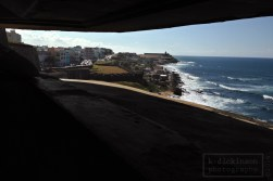 Looking out to Old San Juan from a tower at Fuerte San Cristobal.