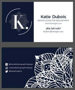 Katie Dubois business cards 2018