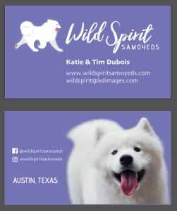 Wild Spirit Samoyeds Business Cards