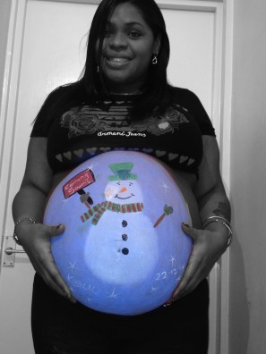 Christmas Baby Bump Painting