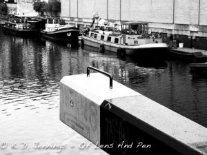 Barges and River View - Islington - London