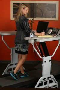 treadmill desk girl
