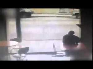 thief hit by car
