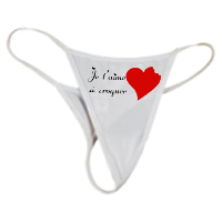 String Je Taime Croquer Boutique Wwwcadeaux Persocom