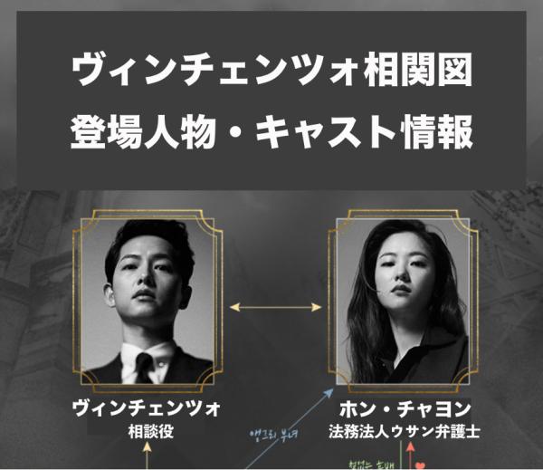 ヴィンチェンツォ|相関図(日本語)・キャスト人物紹介(画像付き)、基本情報を紹介