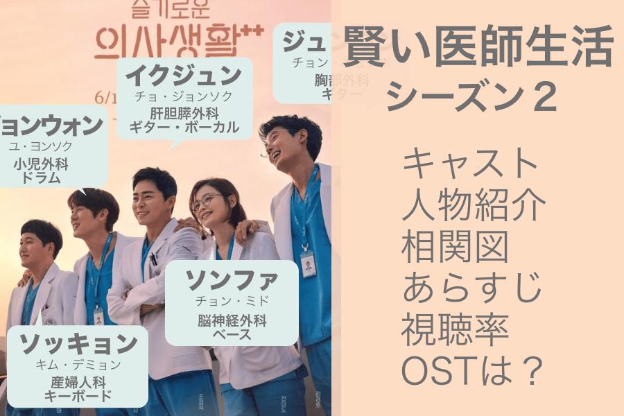 賢い医師生活シーズン2|キャスト、登場人物紹介、相関図、視聴率、日本での配信は?