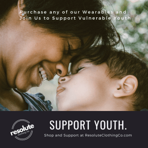 Resolute Clothing Co is supporting vulnerable youth with every purchase