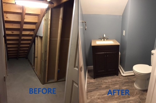 Stair Bathroom - B and A