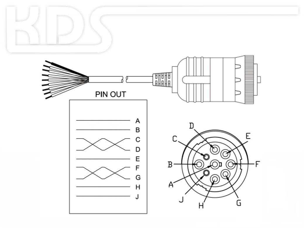 Obd Cable Sae J Cut Off C 2 0m Hiq