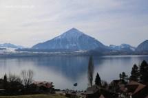 Gunung Niesen dan tasik Thun