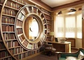 Doesn't this extravagant home library remind you of The Hobbit?