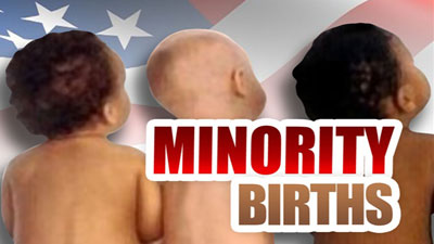 Minority birth outnumber white births for firxt time