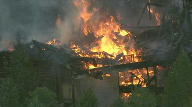 Fire destroys home in Evergreen, Colo. July 19, 2012
