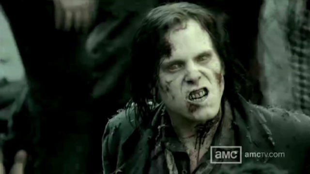 "An image from the AMC T.V. show ""The Walking Dead,"" which moved a New York man to shoot his girlfriend. (Photo: CNN)"