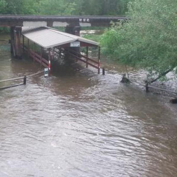 Poudre River and Trail at Highway 287 in Fort Collins, Colo. closed because of flooding. June 2, 2014