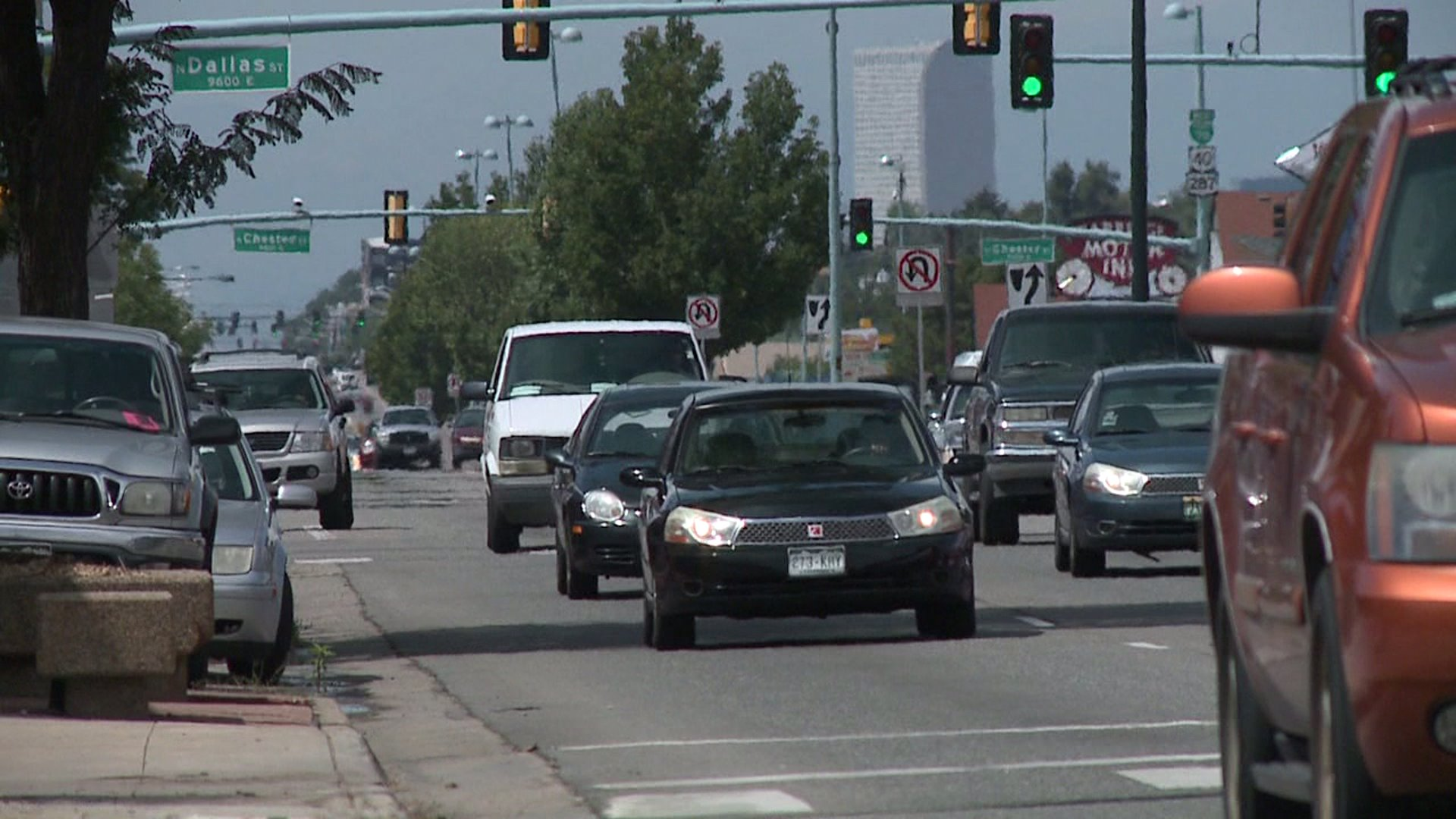 Colfax Avenue traffic in Denver