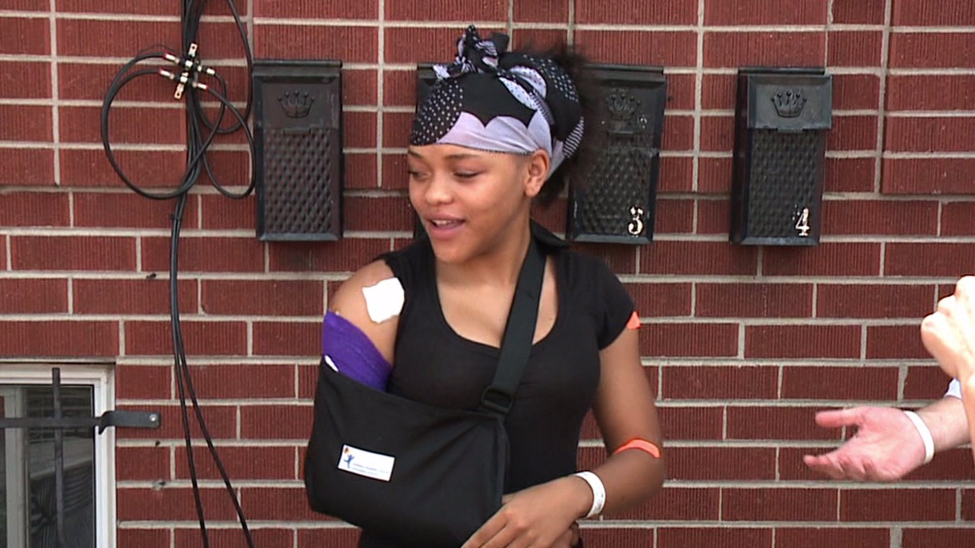 Niela Coleman was shot in the upper arm