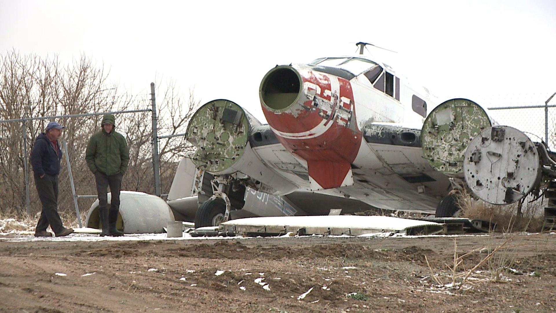 Airplane salvage yard in Denver