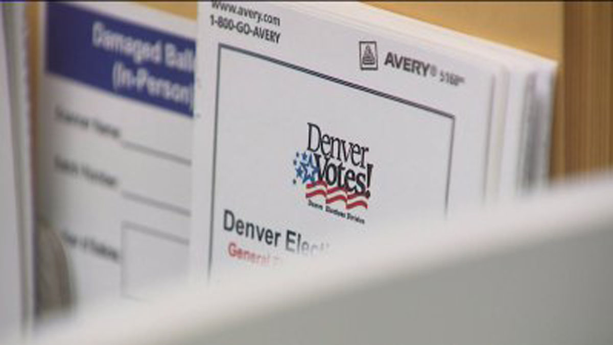 A ballot from the Denver Elections Division.