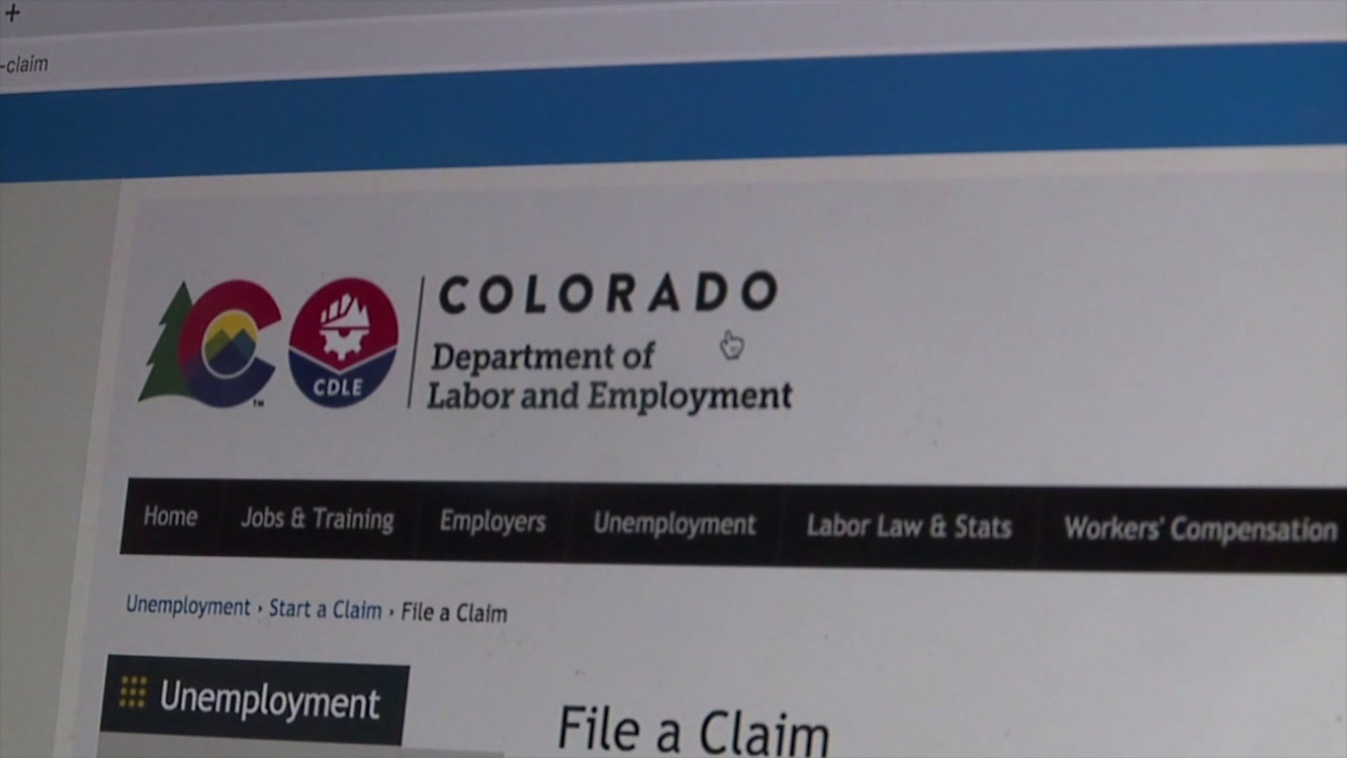 Colorado Department of Labor and Employment website