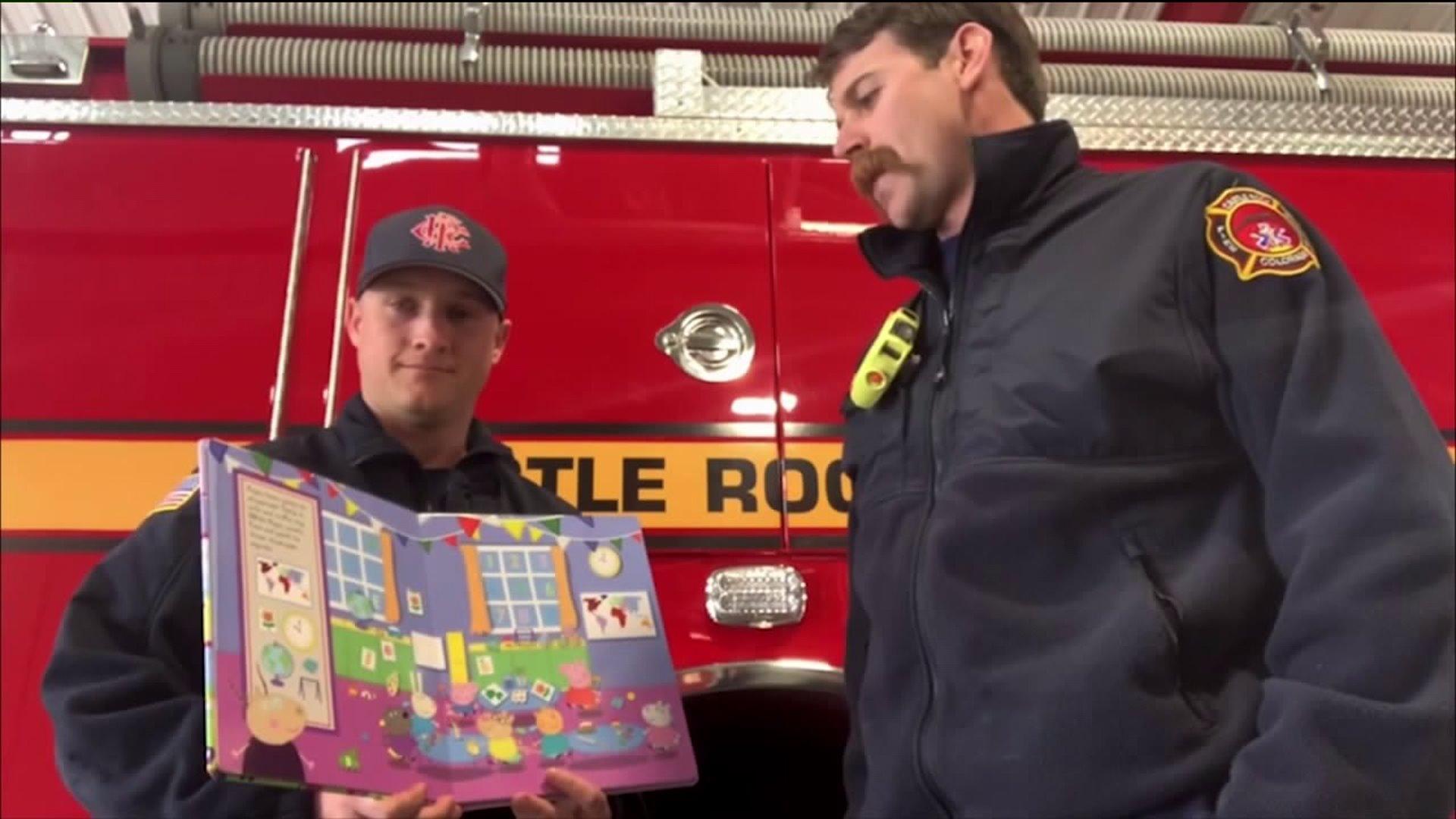 Castle Rock firefighters reading