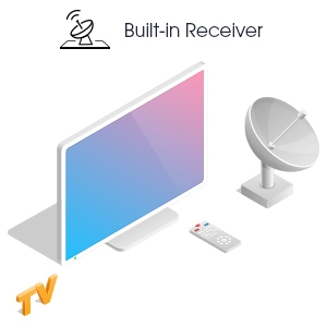 Sattellite Receiver Built-in