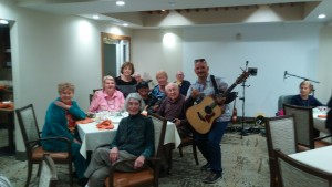 keahi performs at the patrician senior living home in la jolla