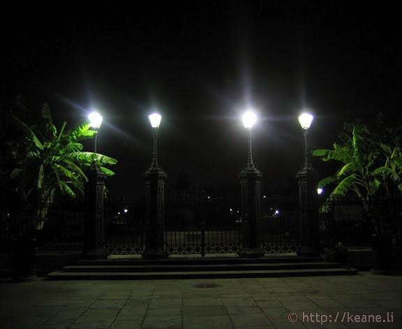 Night Lights Around Jackson Square New Orleans