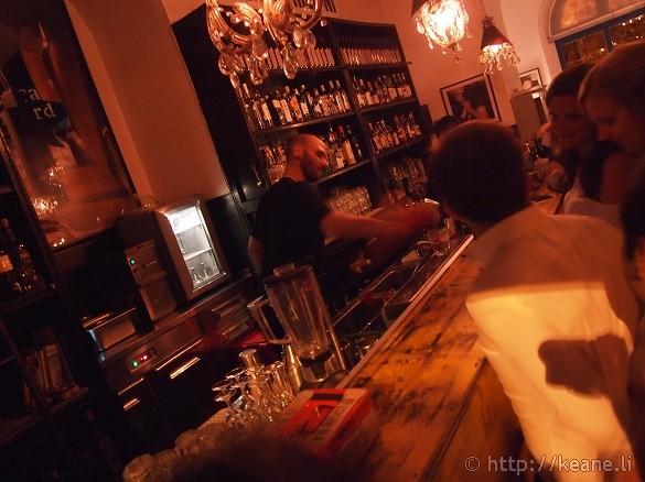 Bartender at Freni e Frizioni in Trastevere
