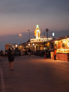 The Rimini pier at night