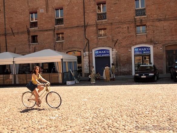 Palio di Ferrara - Girl on Bike