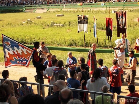 Palio di Ferrara - Race Winner in Piazza Ariostea