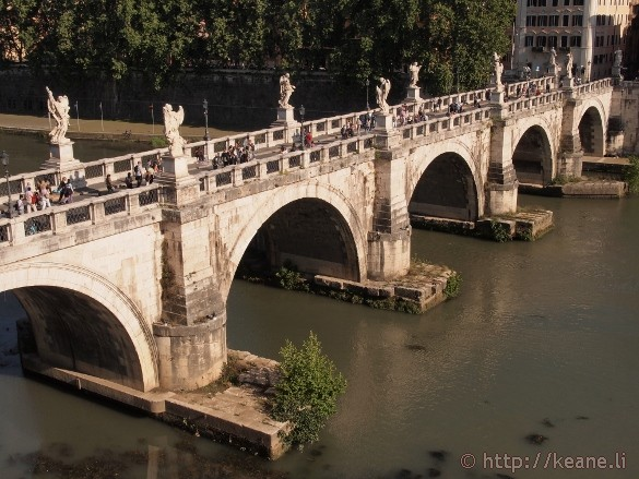 Ponte Sant'Angelo from Castel Sant'Angelo in Rome