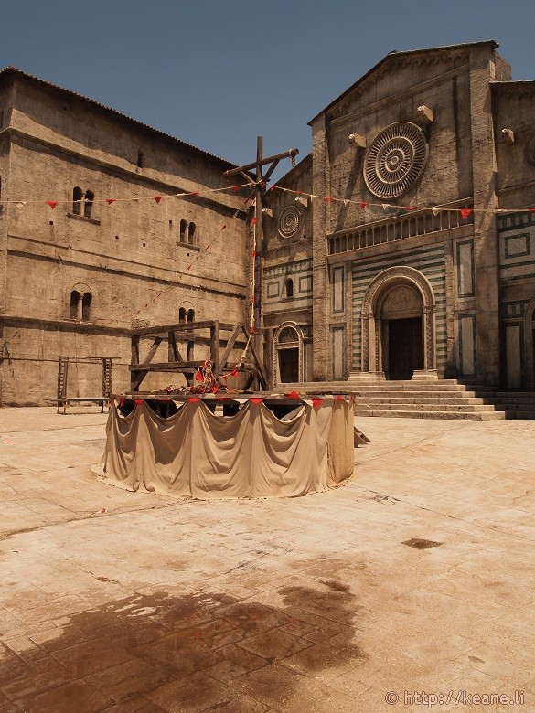 Cinecittà - Outdoor set of a Medieval village