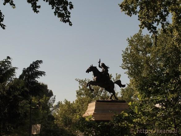 Monument for Anita Garibaldi on Gianicolo in Rome