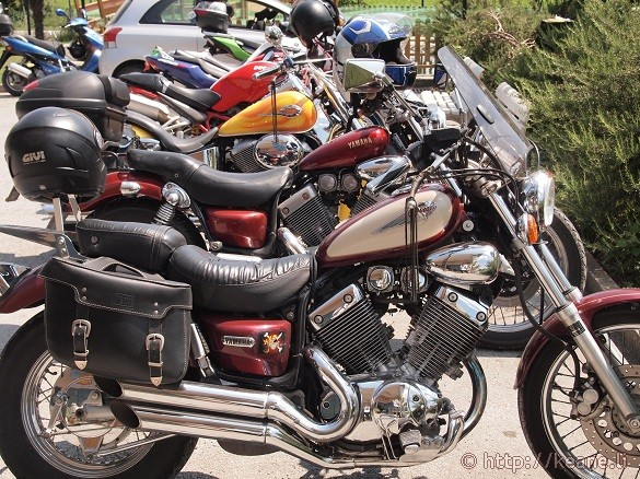 Motorcycles at Miele Praconi in San Mauro Pascoli