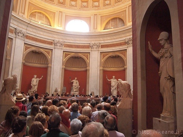 Circular room of gods in the Vatican Museums