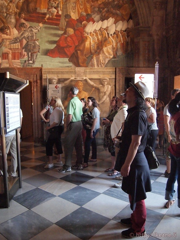 #redpants in the Vatican Museums