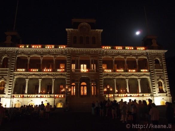 Honolulu City Lights - Christmas 2012 - Iolani Palace