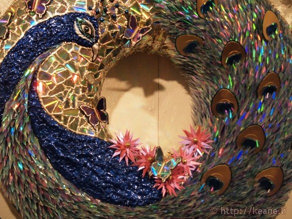 Honolulu City Lights - Christmas 2012 - Peacock Wreath
