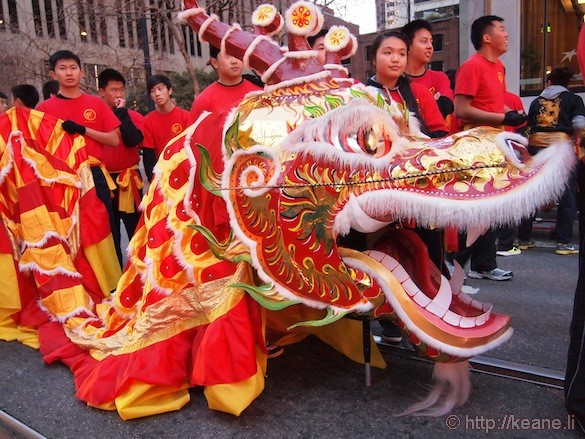 Chinese New Year dragon in San Francisco