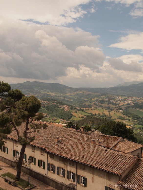 View from the top of San Marino