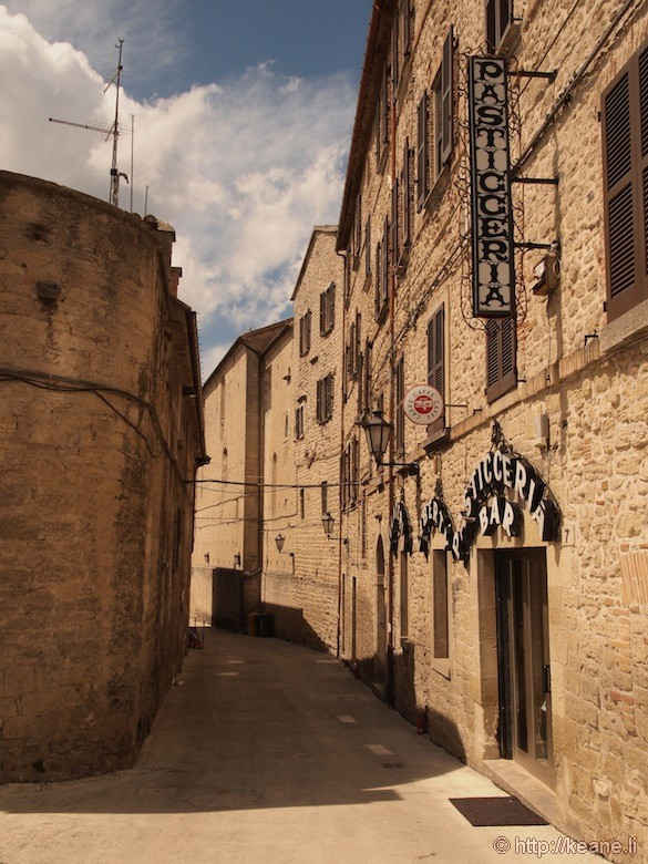 Empty Street in San Marino
