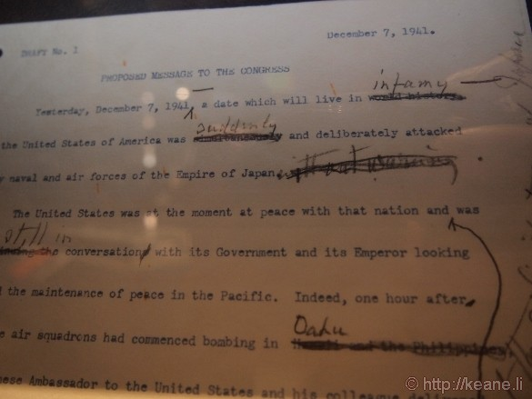 """USS Arizona Memorial - """"Day that will live in infamy"""" Draft"""