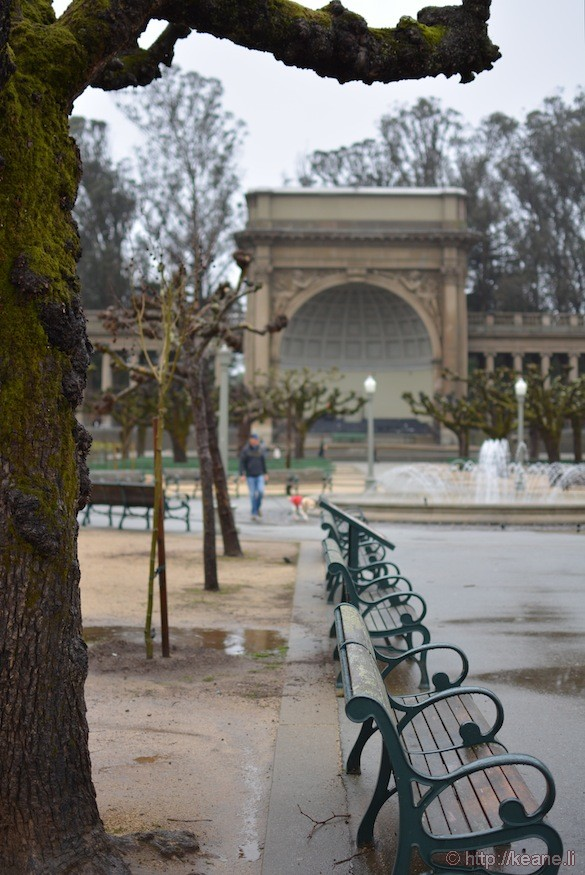 SF Golden Gate Park Amphitheatre in the rain