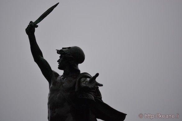 Statue in Golden Gate Park in the rain