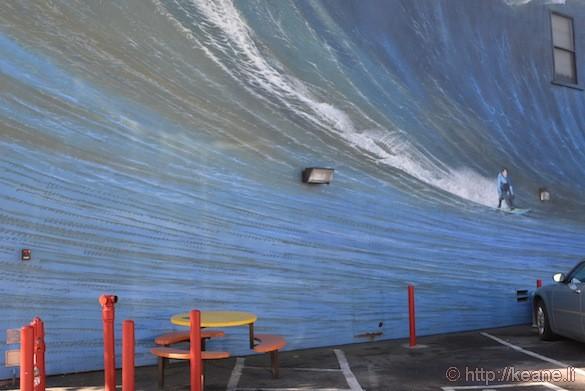 Surfer Mural in Half Moon Bay