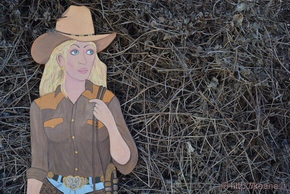 Cowgirl on Main Street in Half Moon Bay